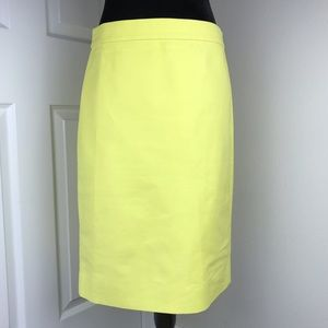 J. Crew No. 2 Pencil Skirt bright yellow